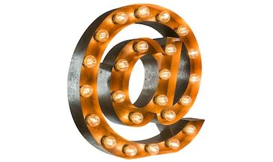 MARQUEE LIGHTS LED Dekolicht »@-Zeichen«, E14, 1 St., Warmweiß, Wandlampe, Tischlampe... kaufen