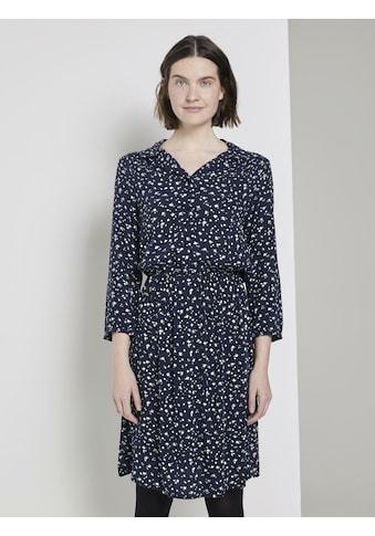 TOM TAILOR Hemdblusenkleid »Gemustertes Minikleid mit Revers-Kragen« kaufen