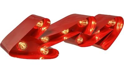 MARQUEE LIGHTS LED Dekolicht »Geschwungener Pfeil«, 1 St., Warmweiß, Wandlampe,... kaufen