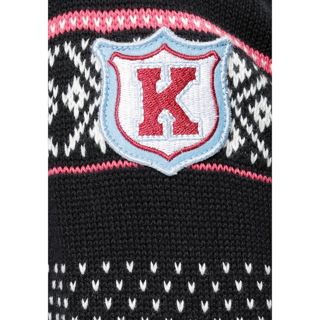 KangaROOS Strickkleid, mit Norweger-Muster