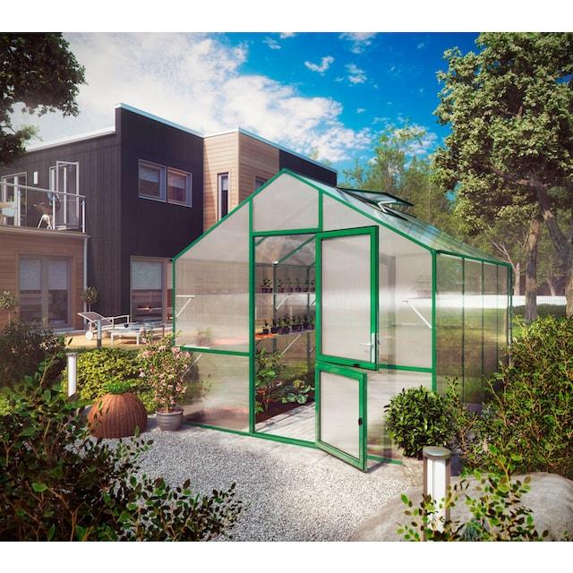KGT Gewächshaus »Lilie IV«, BxTxH: 297x429x268 cm, grün, inkl. Regenrinne
