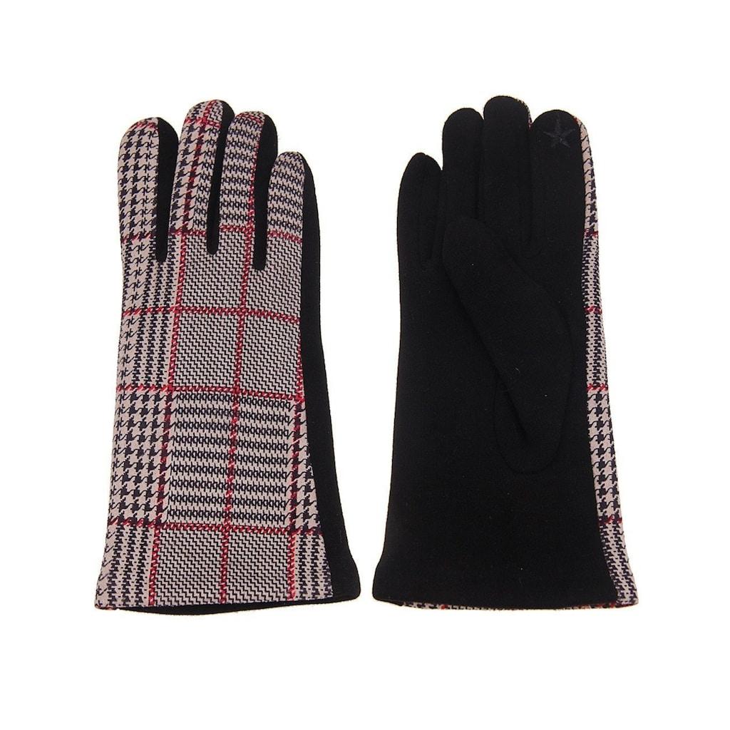 leslii Handschuhe mit Karo-Muster