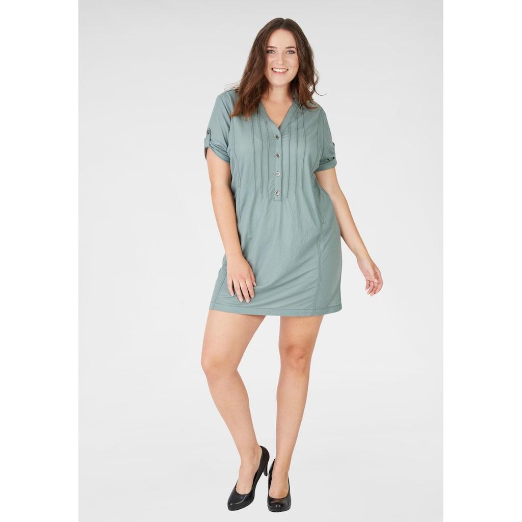 NAVIGAZIONE Più Kleid mit Krempel-Ärmeln