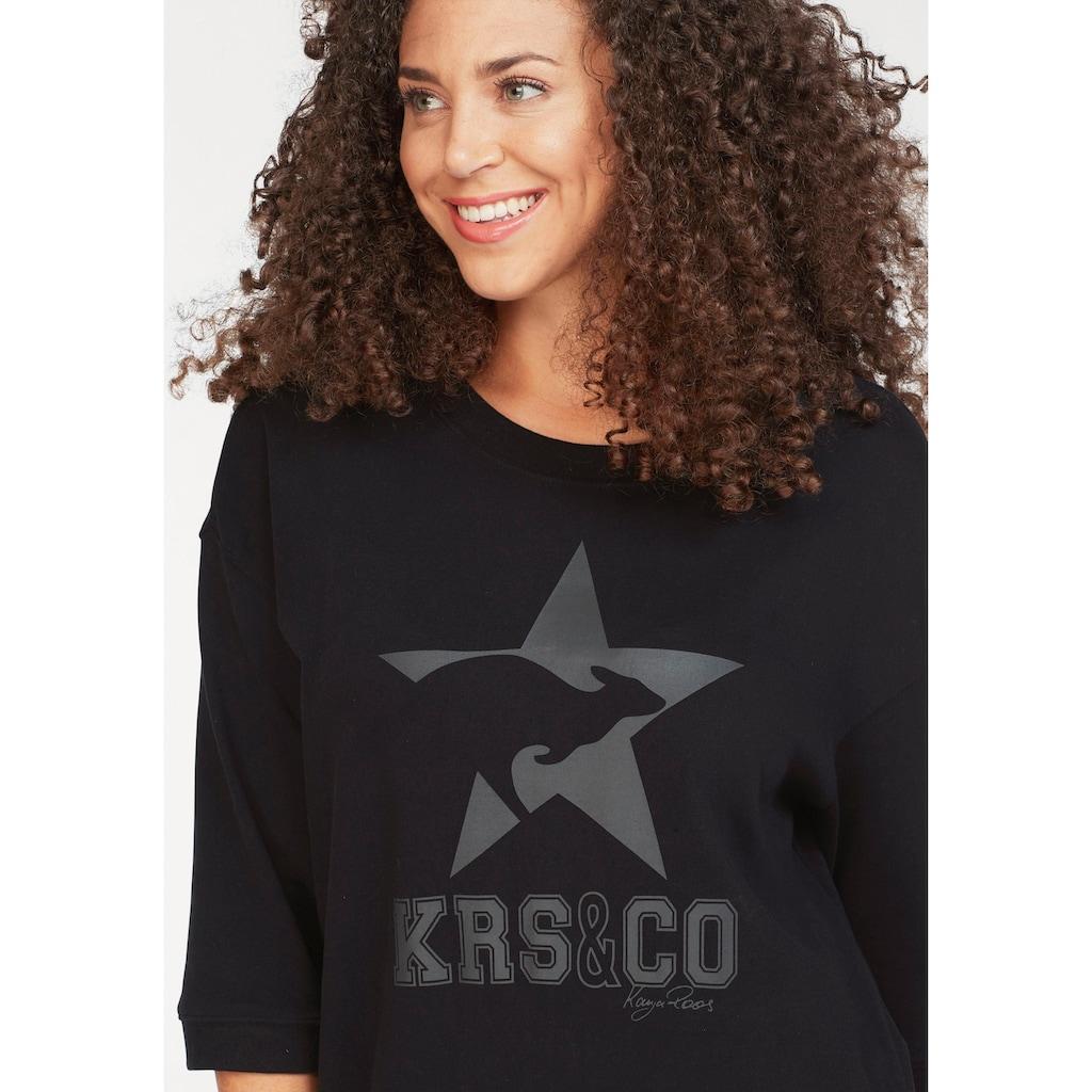 KangaROOS Sweatkleid, mit großem Label-Print