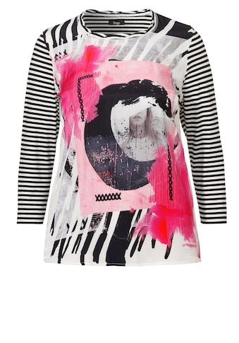 FRAPP Raffiniertes Shirt mit seidiger Print - Front kaufen