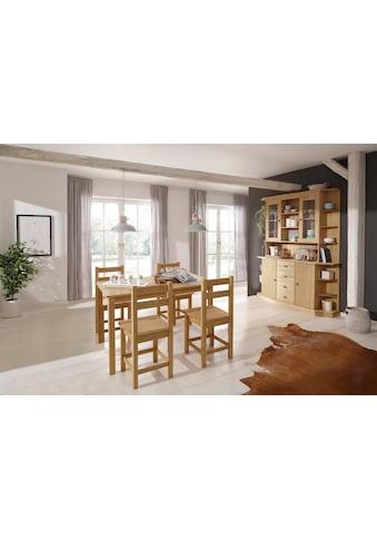 Home affaire Esstisch »Indra«, aus massiver Kiefer, wahlweise mit oder ohne Verlängerung kaufen
