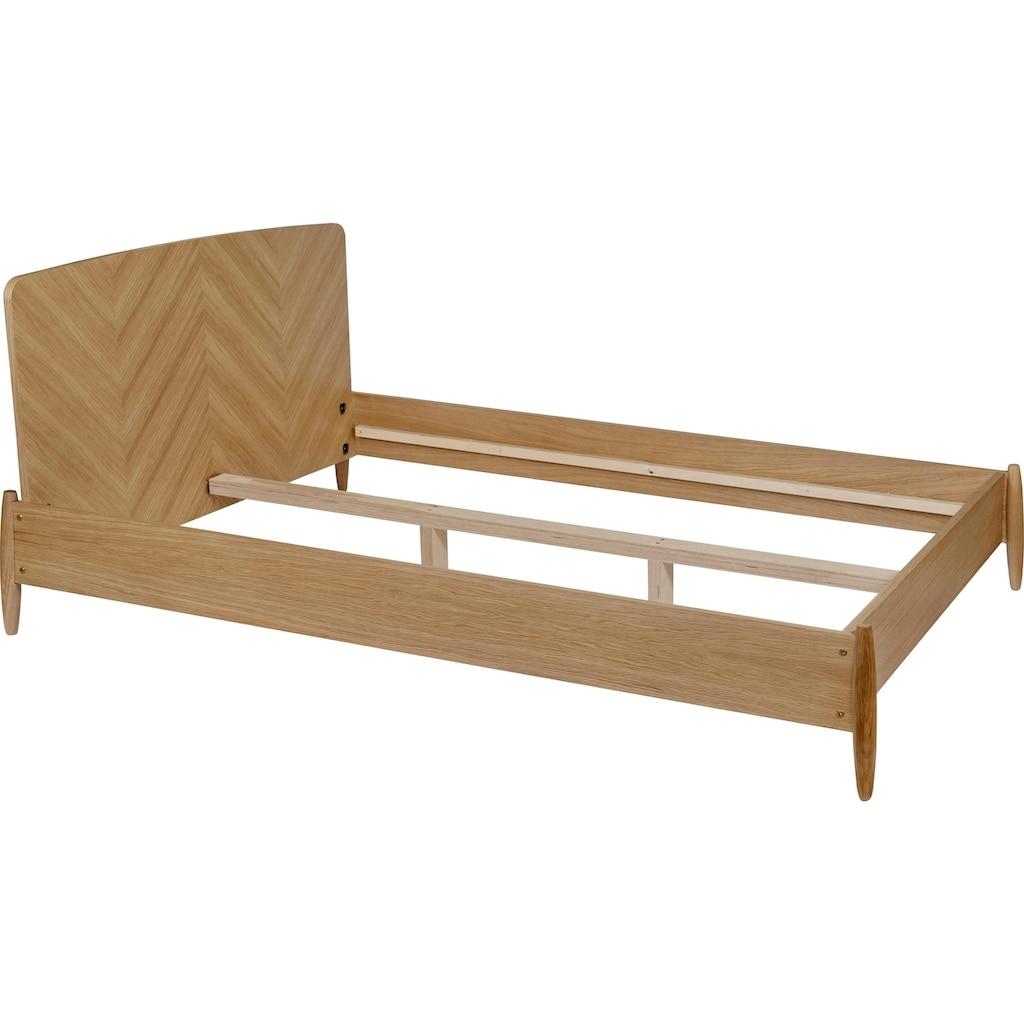 Woodman Massivholzbett »Farsta 1«, im skandinavischen Design