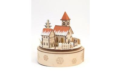 HGD Holz - Glas - Design Spieluhr Weihnachtsstadt kaufen