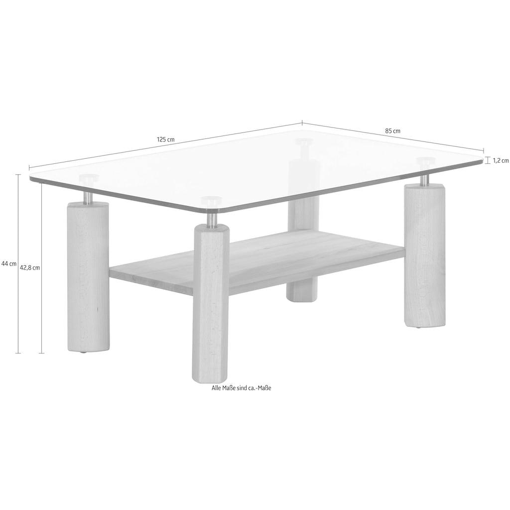 Premium collection by Home affaire Couchtisch »Elias«, in rechteckiger Form mit Glasplatte