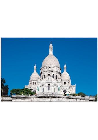 Artland Wandbild »Basilika Sacre-Coeur Paris«, Gebäude, (1 St.), in vielen Größen &... kaufen