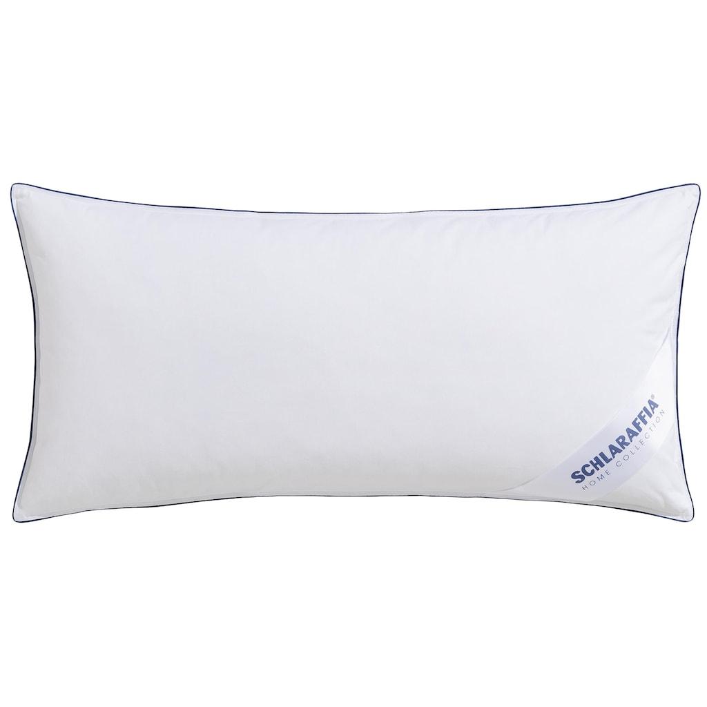 """Schlaraffia Federkissen »""""Komfort""""«, Füllung: 85% Federn, 15% Daunen, Bezug: Baumwolle, (1 St.), mit sehr gute Anpassung & Abstützung für den Kopf- und Nackenbereich."""