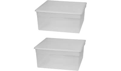 KREHER Aufbewahrungsbox »2x 23 Liter, mit Deckel« 2er Set kaufen