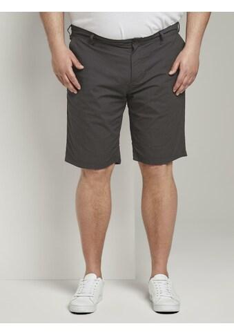TOM TAILOR Men Plus Bermudas »Gemusterte Josh Regular Slim Bermuda - Shorts« kaufen
