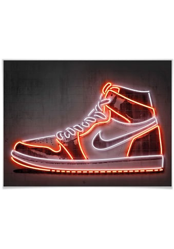 Wall-Art Poster »Mielu Nike Schuh Neon Sneaker«, Schuh, (1 St.), Poster, Wandbild, Bild, Wandposter kaufen