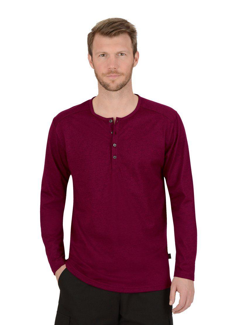trigema -  Langarmshirt, mit Knopfleiste