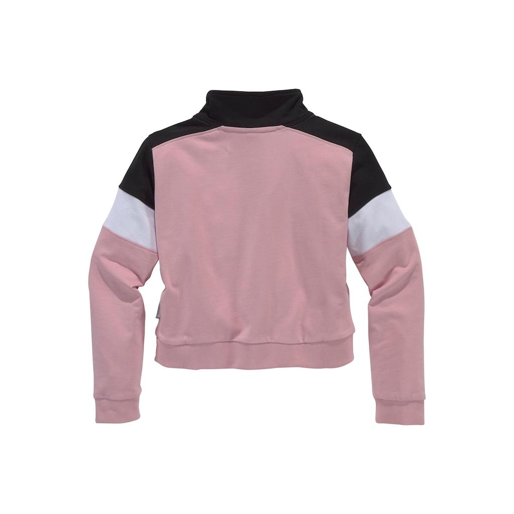 Bench. Sweatshirt, mit Stehkragen und in kürzerer Form