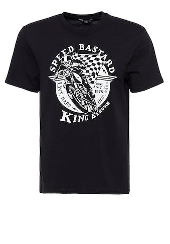 KingKerosin Print-Shirt »Speed Bastard«, mit Front Print kaufen