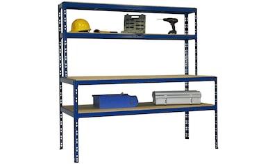 SZ METALL Werkbank »Werkbankregal Professional«, B/T/H: 180x80x180 cm kaufen