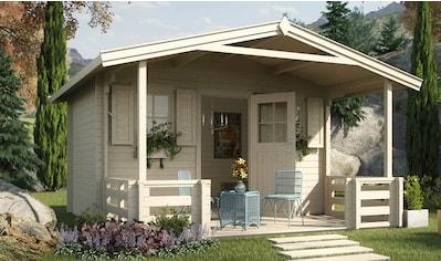 WEKA Set: Gartenhaus »138 B Gr.1«, BxT: 450x510 cm, inkl. Terrasse, Vordach und Fußboden kaufen