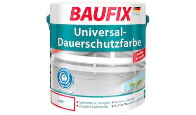 BAUFIX Acryl Buntlack »Universal - Dauerschutzfarbe«, weiß, 2,5 L kaufen