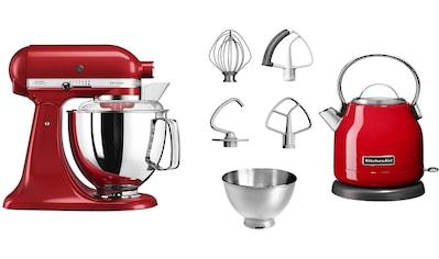 KitchenAid Küchenmaschine »Artisan 5KSM175EER empire red«, 300 W, 4,8 l Schüssel, mit... kaufen