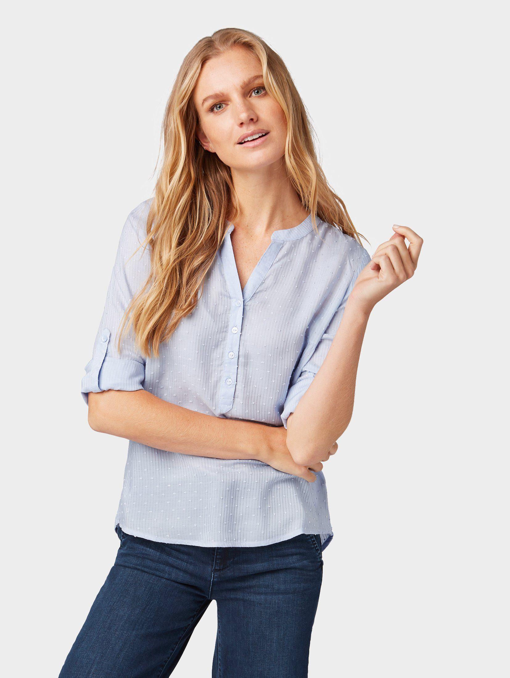 TOM TAILOR Shirtbluse Bluse mit Struktur