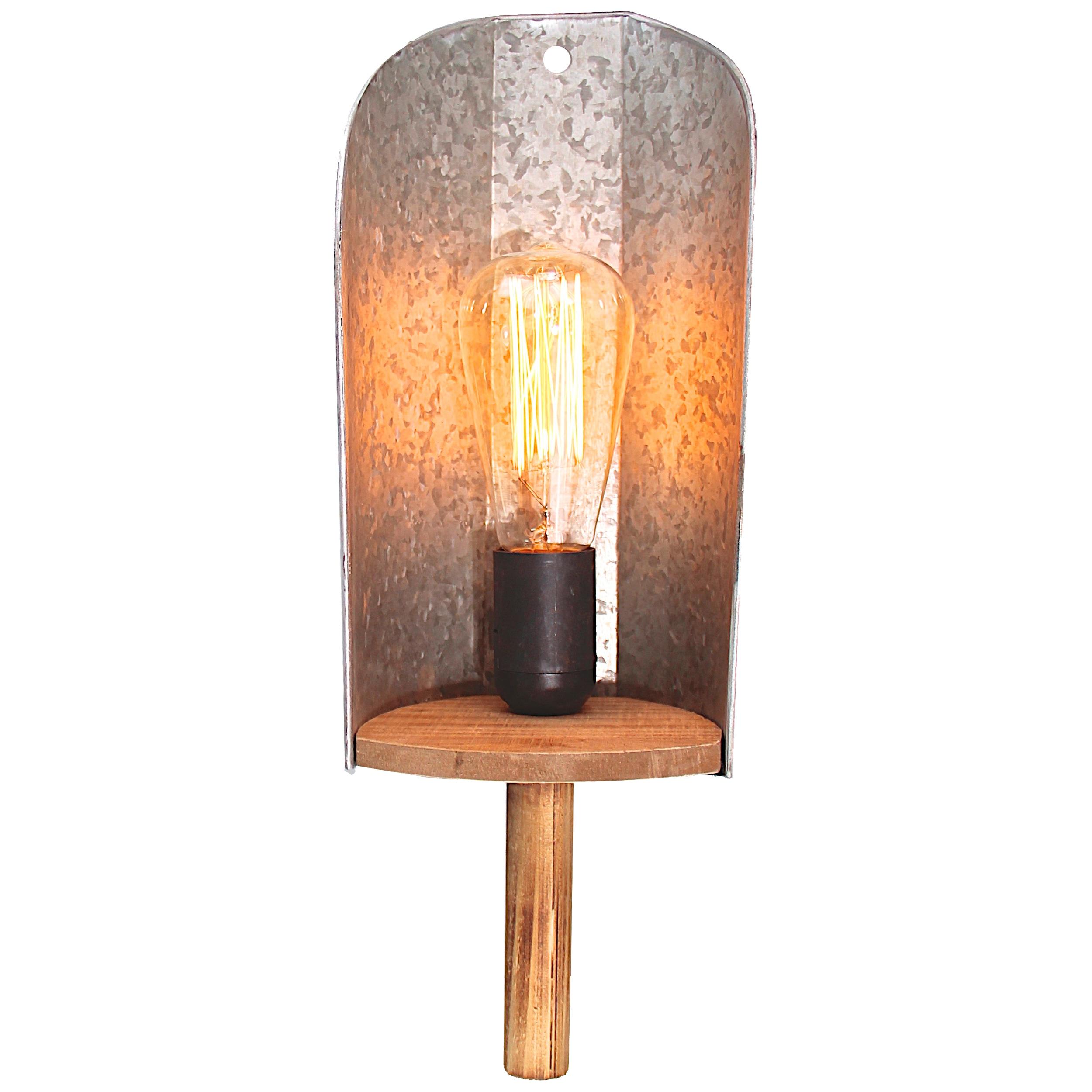 Brilliant Leuchten Shovel Wandleuchte Schalter zink antik