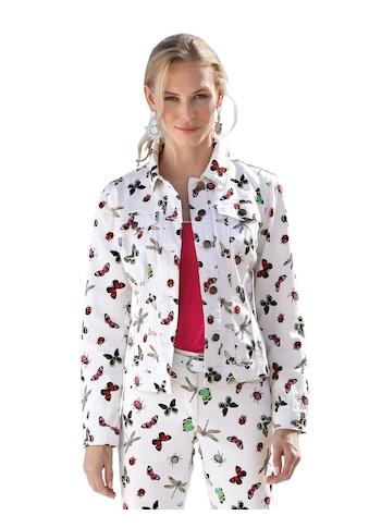 Amy Vermont Jeansjacke, mit Schmetterlings-Druck kaufen