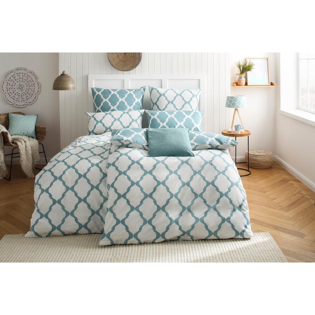 Home affaire Wendebettwäsche »Alba«, mit schönem schlichten Muster