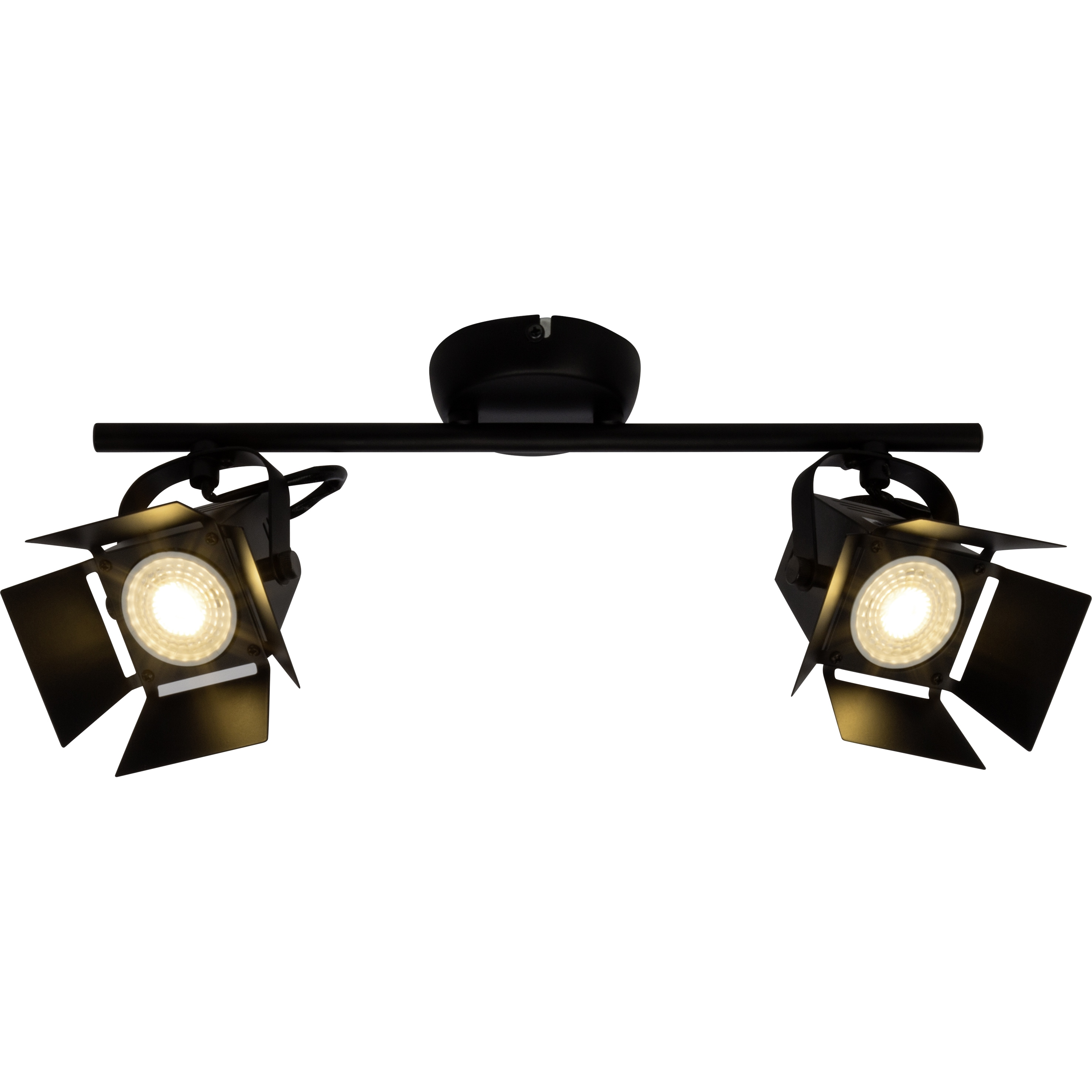 Brilliant Leuchten Movie LED Spotrohr 2flg schwarz matt