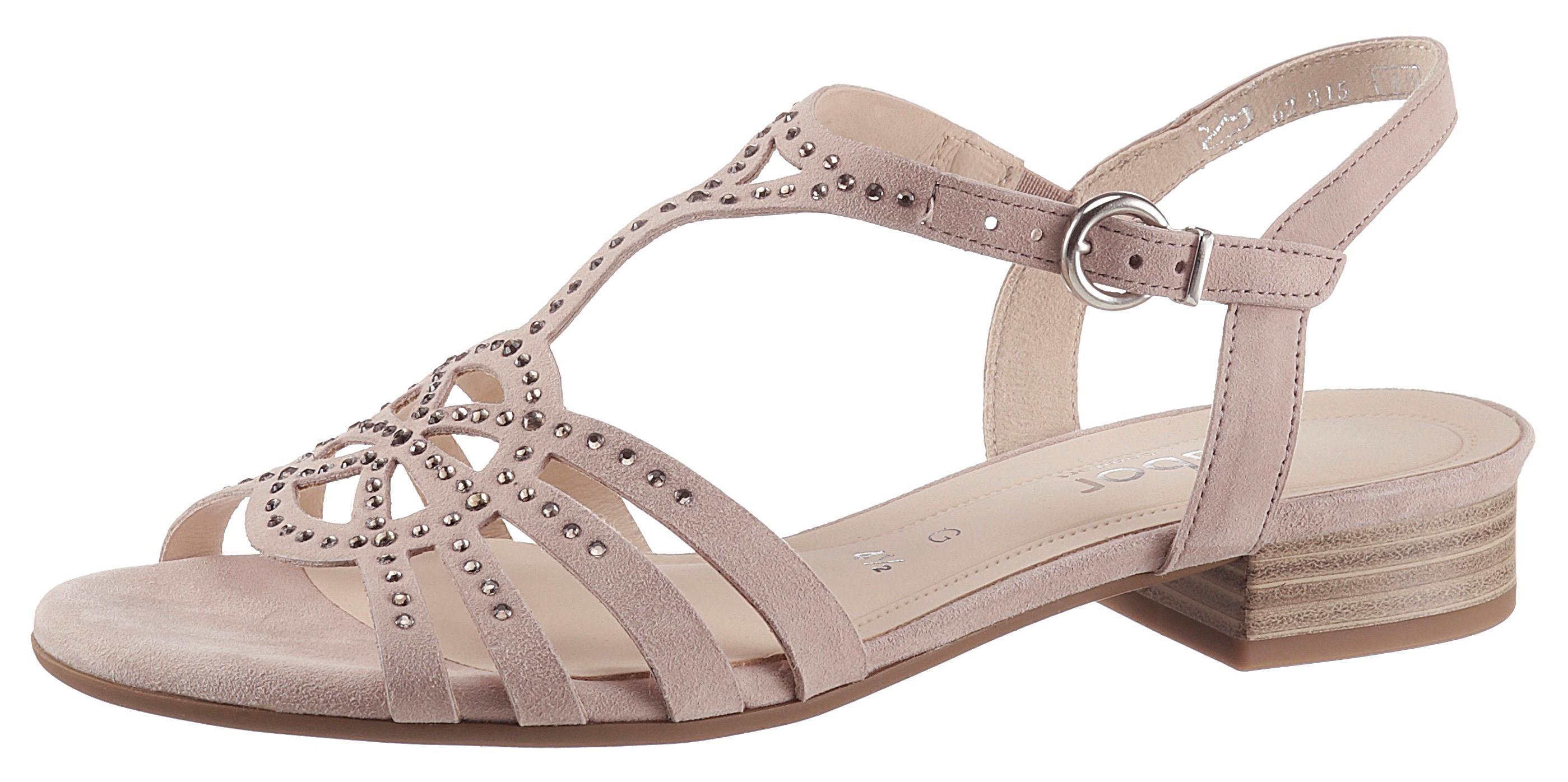 gabor -  Sandalette, mit glänzenden Strasssteinchen verziert