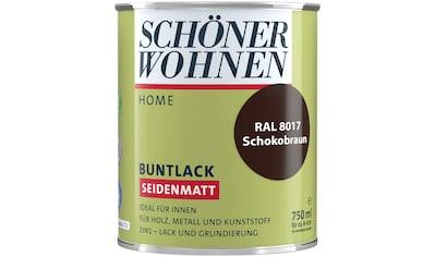 SCHÖNER WOHNEN-Kollektion Lack »Home Buntlack«, seidenmatt, 750 ml, schokobraun RAL 8017 kaufen