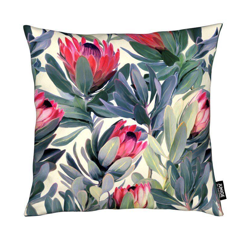 Dekokissen Painted Protea Pattern Juniqe