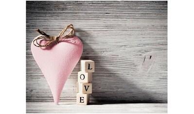 Home affaire Leinwandbild »Heart Love Pink« kaufen