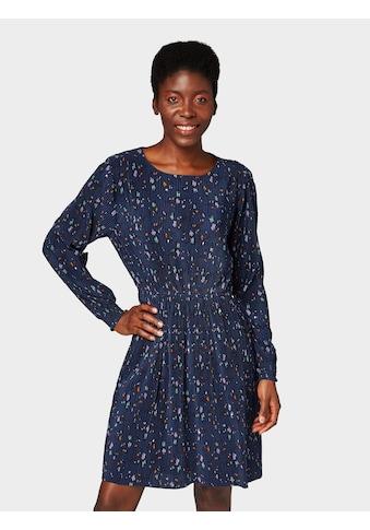 TOM TAILOR Denim Plisseekleid »Kleid mit Blumen - Print« kaufen