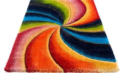 my home Hochflor-Teppich »Baldo«, rechteckig, 43 mm Höhe, mit handgearbeitetem... kaufen
