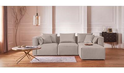 Guido Maria Kretschmer Home&Living Ottomane »Marble«, Modul-Ottomane zur indiviuellen Zusammenstellung eines perfekten Sofas, in 3 Bezugsvarianten und vielen Farben kaufen