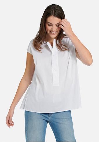 Emilia Lay Kurzarmbluse »mit überschnittener Schulter«, und Knöpfen kaufen