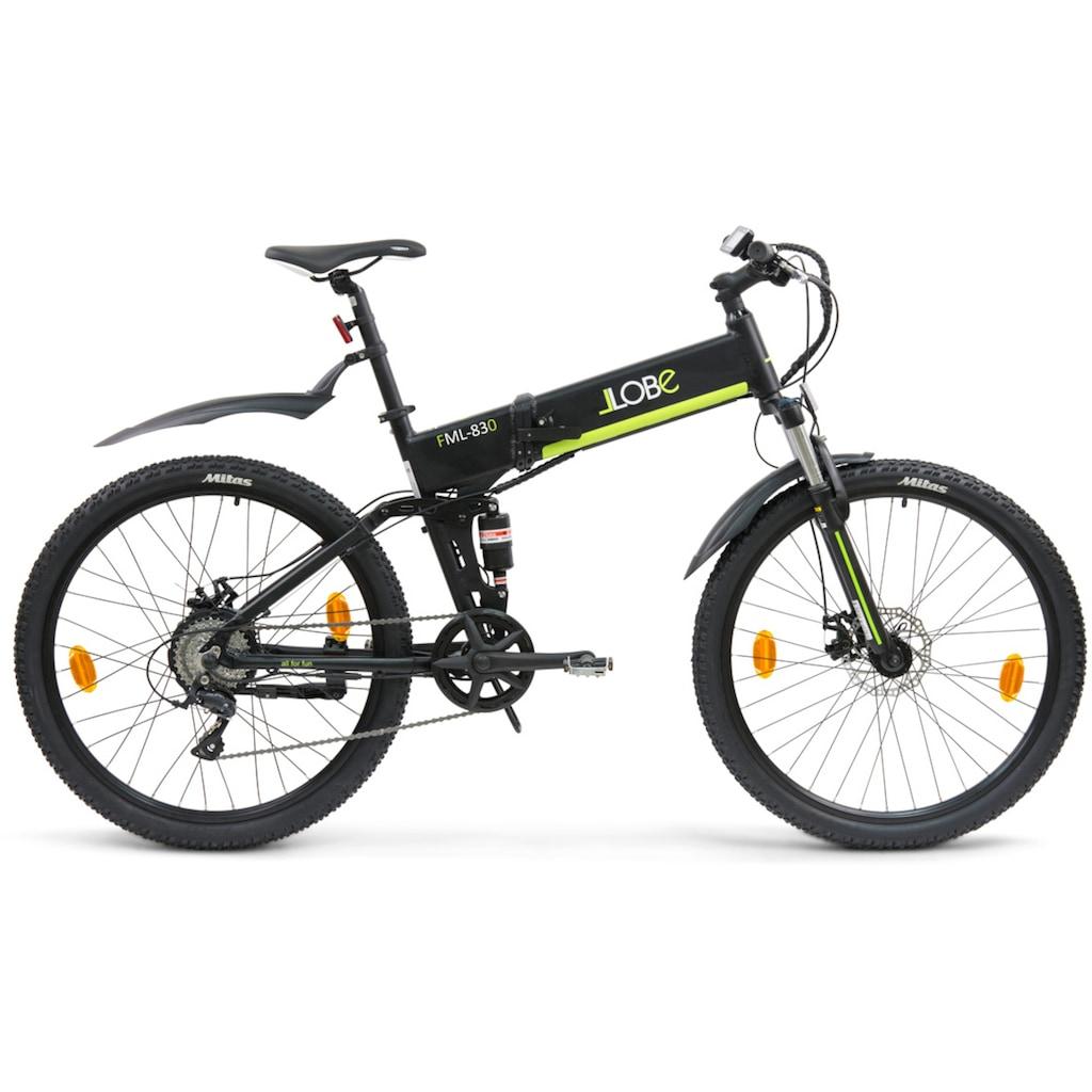 "LLobe E-Bike »FML-830 black 27,5"", 10,4 Ah«"