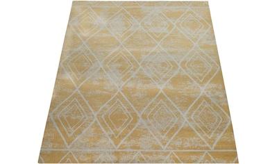 Paco Home Teppich »Artigo 427«, rechteckig, 4 mm Höhe, In- und Outdoor geeignet, Rauten Design, Wohnzimmer kaufen