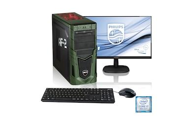 "Hyrican Gaming PC i7 - 9700F, RTX 2060, 16GB RAM + 61 cm (24"") TFT »Military Gaming SET1902« kaufen"