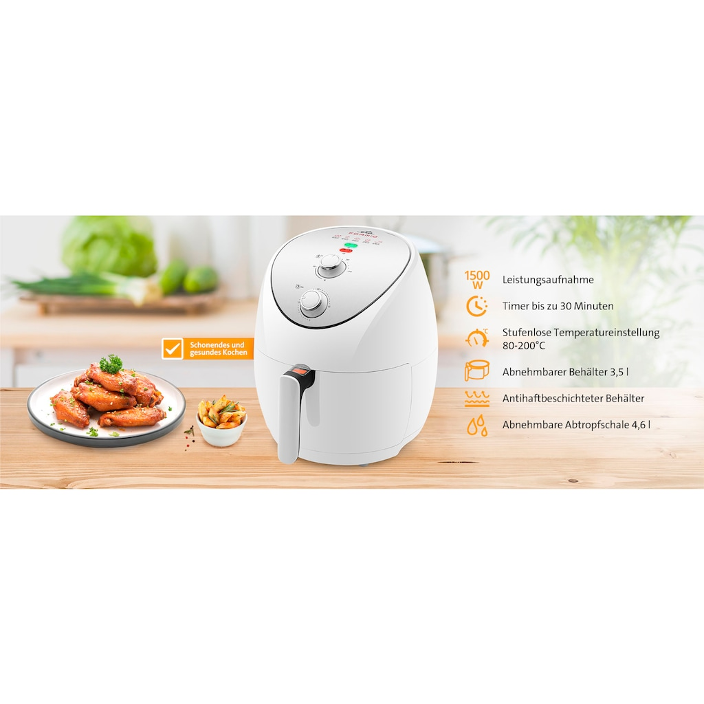 eta Heissluftfritteuse »FORMIO ETA217290000«, 3,5-l-Behälter, einstellbare Temperatur von 80–200 ° C für eine sanfte und gesunde Zubereitung von Speisen