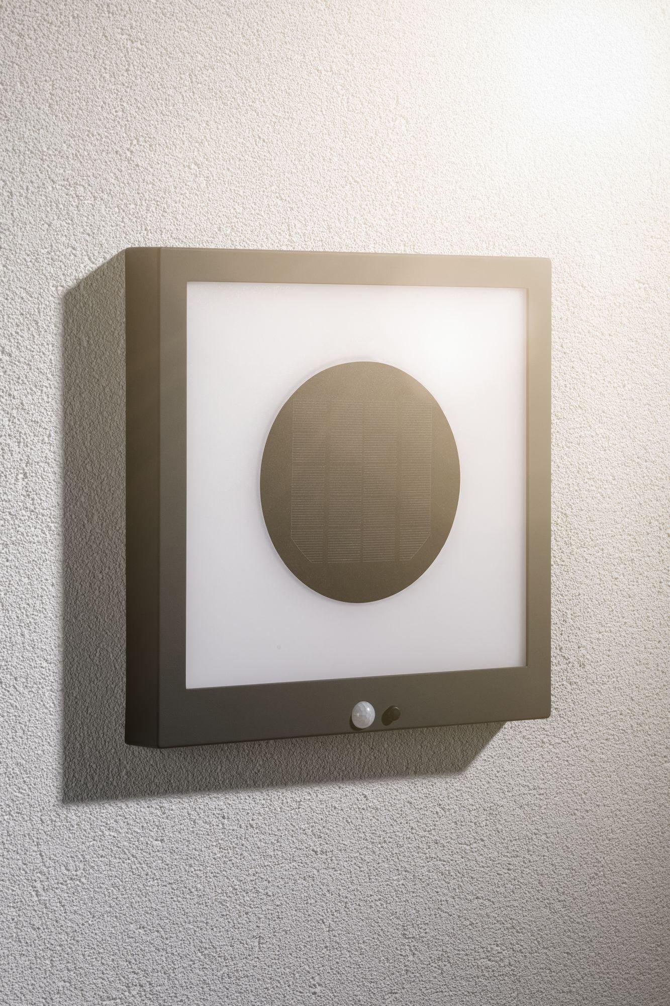 Paulmann LED Außen-Wandleuchte Taija, LED-Board, 1 St., Warmweiß, Solar Panel, mit Bewegungsmelder