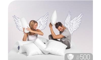 Schlafstil Daunenkissen »D500«, Füllung: 60% Daunen, 40% Federn, Bezug: 100% Baumwolle, (1 St.), hergestellt in Deutschland, allergikerfreundlich kaufen