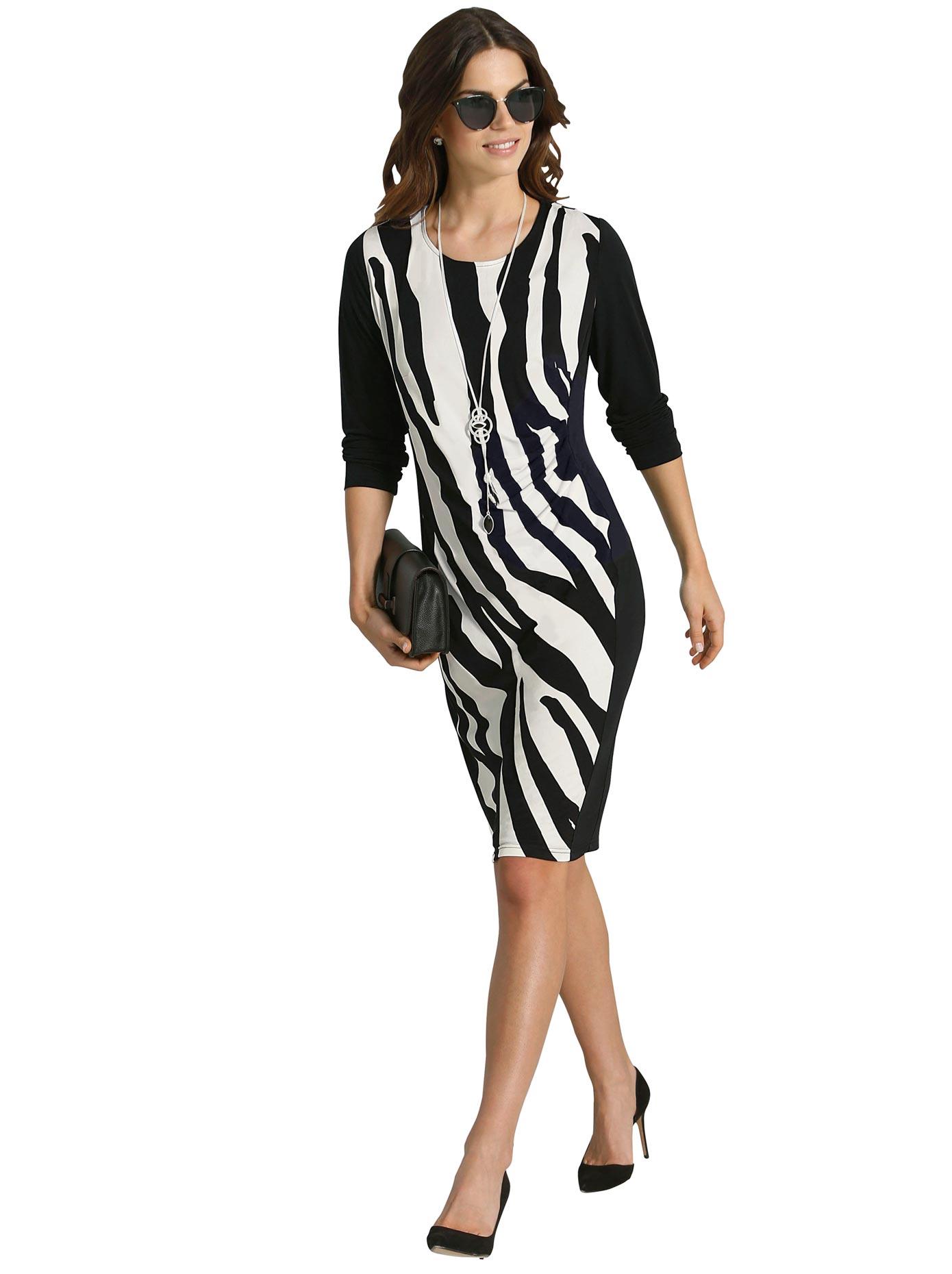 Lady Jersey-Kleid mit Rundhals-Ausschnitt