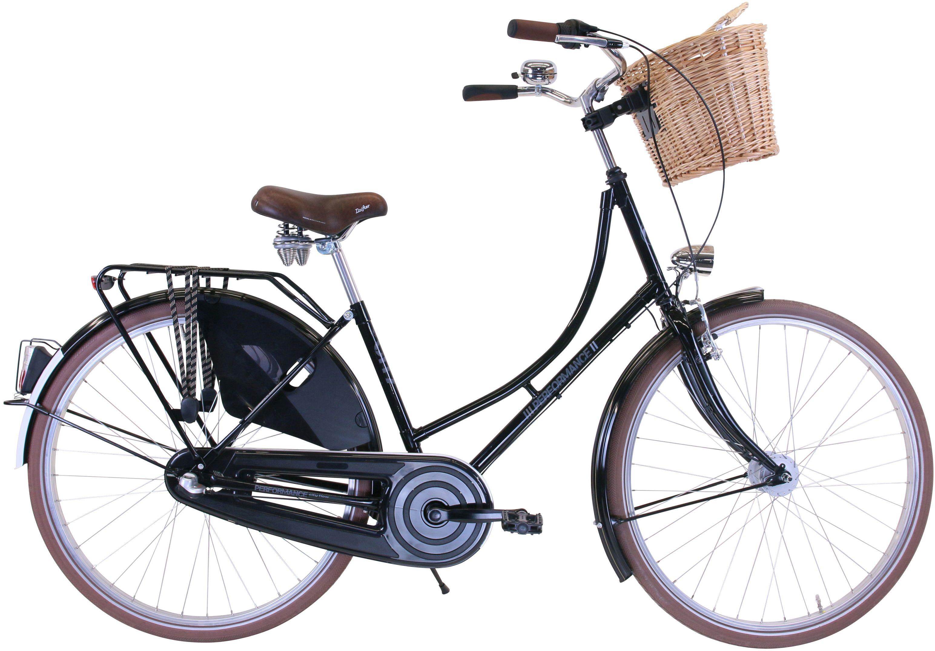 Performance Nostalgierad, 3 Gang, Shimano, NEXUS Schaltwerk, Nabenschaltung schwarz Damen Damenfahrräder Fahrräder Zubehör Nostalgierad