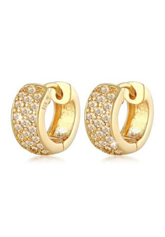 Elli Paar Creolen »Paar Creolen Elegant mit Kristalle 925« kaufen