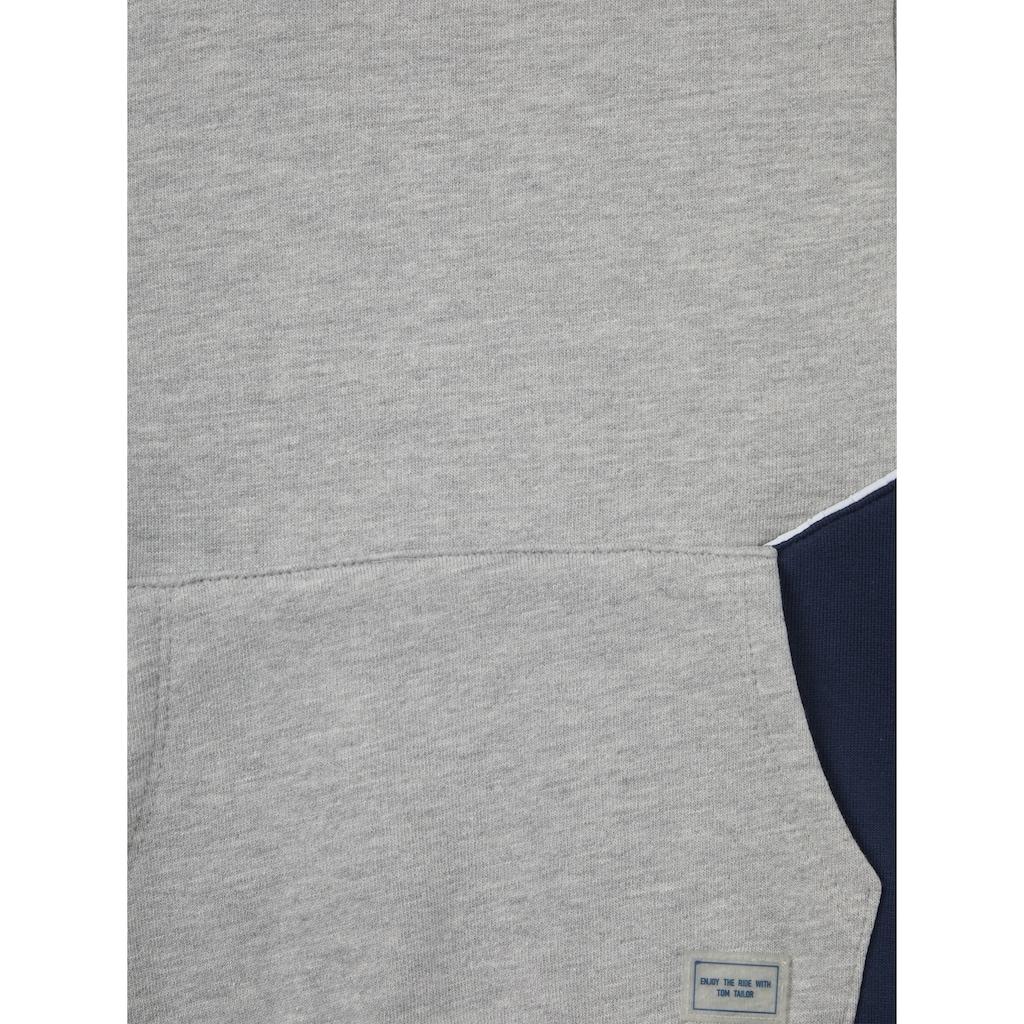 TOM TAILOR Sweatshirt »Hoodie mit Kontraststreifen«