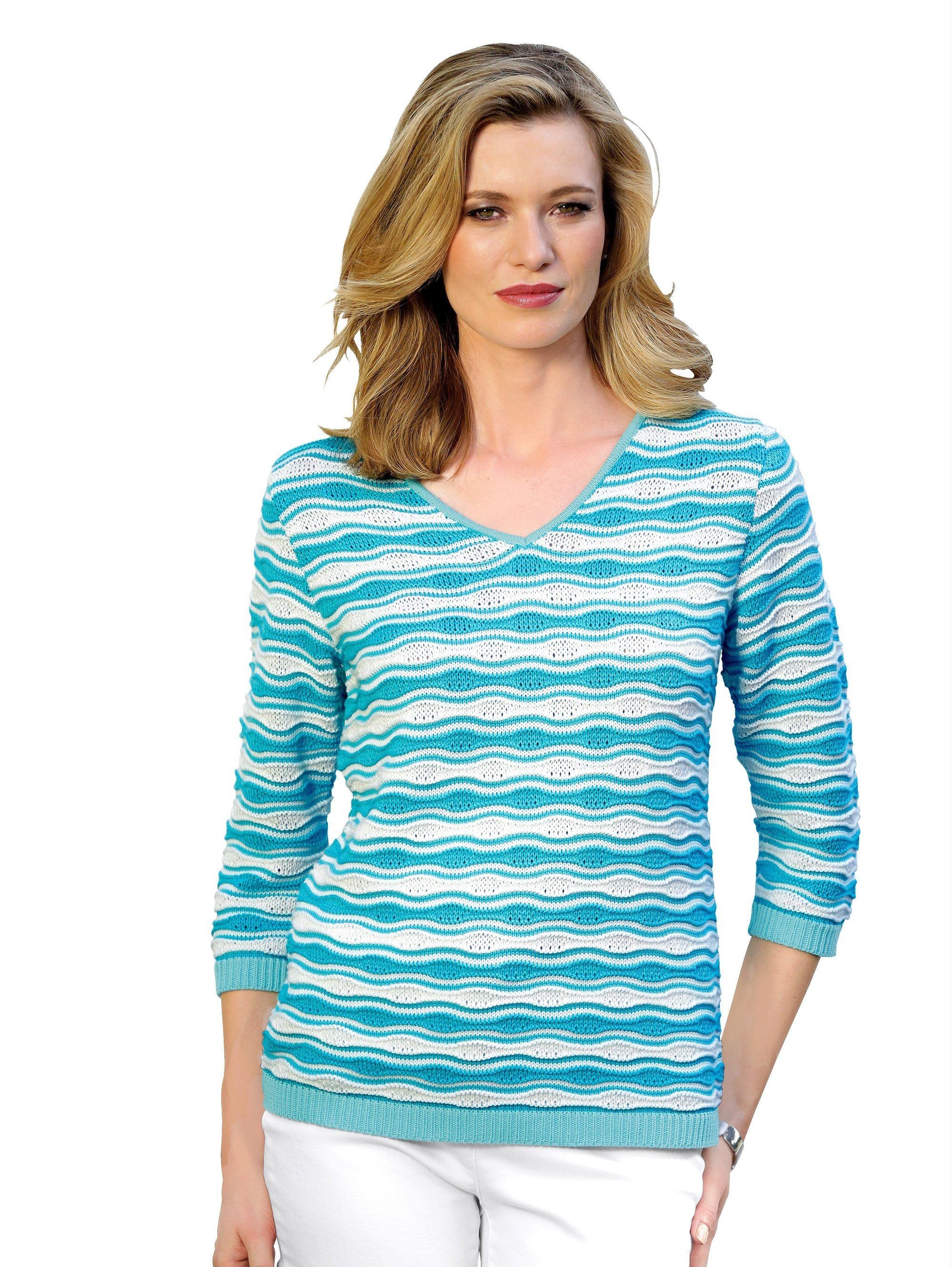 Mona Pullover in Struktur Strick online shoppen | BAUR