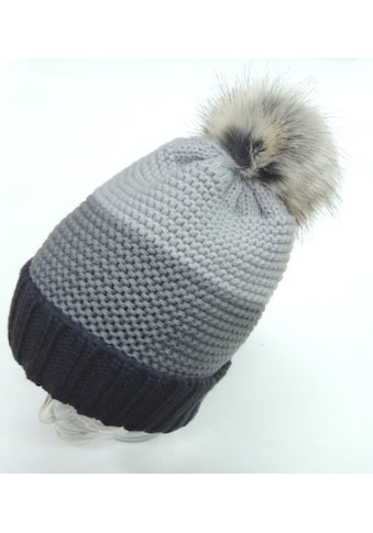 Chaplino Strickmütze, mit trendigem Kunstfellbommel kaufen